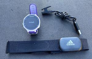 Garmin Forerunner 230 GPS Running Watch- Purple/White With Heart Rate Monitor