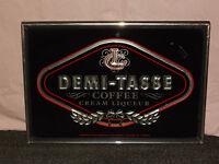 VINTAGE DEMI-TASSE COFFEE CREAM LIQUEUR BAR WALL SIGN