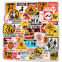 50Pcs Funny Car Stickers Motorcycle Suitcase Home Decor Phone Laptop Covers DIY