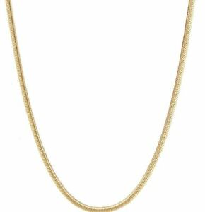 """9ct Gold Snake Chain 1mm - Fully Hallmarked - 16"""" 18"""" 20"""""""