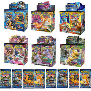 324Stück Pokemon Karte Sammelkarten GX TCG Booster Box EVOLUTIONS Kunst Geschenk