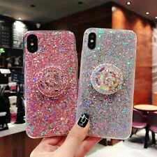 For Samsung S10+ Note 9 Luxury Sparkle Bling Glitter Case & Diamond Stand Holder