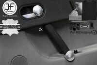 NERO CROSS CUCIRE 2X ANTERIORE PORTA MANIGLIA COPERTURE PELLE PER AUDI TT MK1