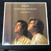"""Wham! - Everything She Wants (Remix) - 12"""" Promo Record - Columbia Records 1984"""