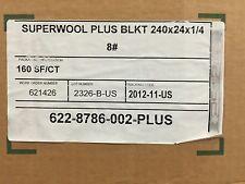 """""""SAFE"""" Non-Ceramic Fiber  Blanket 1/4"""" x 24"""" x 20'  8# SWPLUS"""
