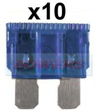 Confezione da 10 12v 24v Volt 15a Amp Blu Standard Lama Kit Fusibili Auto Furgone Marine
