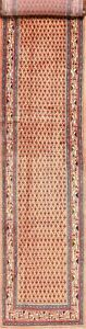 Excellent All-Over Light Peach 14 ft Long Runner Botemir Hand-Knotted Rug 3'x14'