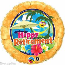 "18"" HAPPY RETIREMENT HELIUM FOIL BALLOON LEAVING SUNSHINE LUAU 36449"