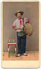 CDV Venice Water seller Hand-colored orignal photo Carlo Ponti 1870c S1091