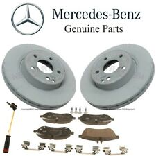 For Mercedes W204 C204 C300 Front Brake Pad Set & 2 Disc Rotors Sensor Kit OES