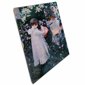 """Canvas Print John Singer Sargent Carnation Lily Lily Rose Reproduction 30""""x20"""""""