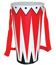 Inflatable Drum African Rasta Clown Hippy Indian Festival Fancy Dress Accessory