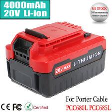 For PORTER CABLE PCC685LP PCC680L 20V 20 Volt Max Lithium-Ion 20V 4.0Ah Battery