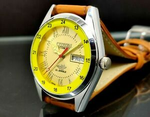 citizen automatic men steel day date movement number 8200 japan watch run order