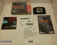 TUROK 2: Seeds of Evil (Nintendo 64 1998) Complete In Box! N64 DINO SHOOTER