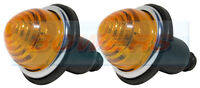 2x LAND ROVER CLASSIC MINI FRONT/REAR AMBER INDICATOR LAMPS LIGHTS AS LUCAS L594