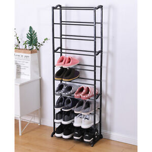 10 Simple Shoe Rack Easy to Install Shoes Storage Shelf Space Saver Shoe CabBJO