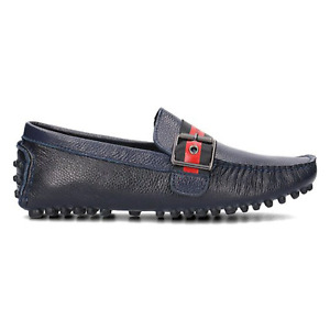 Vercace Jeans Leather Navy Lofers