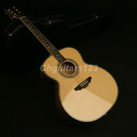 43In Jumbo Electric Acoustic Guitar Solid Spruce Top Flamed Maple Backside