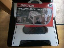 Dekton Folding Step Stool In White