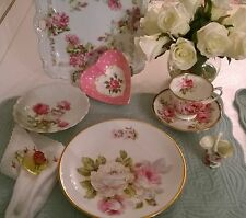 """C.T. Altwasser Germany 8 l/4"""" Plates - Shabby Chic Roses Collectible Dishes"""