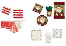 CHRISTMAS PARTY TABLEWARE | GOLD SPARKLE | COSY SANTA | SILVER & GOLD SNOWFLAKES