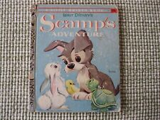 VINTAGE 1958 LITTLE GOLDEN BOOK #D70 WALT DISNEY'S SCAMP'S ADVENTURE