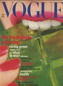 """1977 70s vintage Vogue fashion magazine Merle Park Edna O""""Brien Ireland Warhol"""