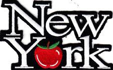 """NEW YORK""  (4 1/4"" X 2 1/2"") BIG APPLE - CITY - VACATION - TRIP - IRON ON PATCH"