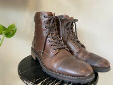 Wolverine 1000 Mile Montgomery Boots Brown Leather Cap Toe Lace Up  9 D W05311