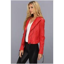 Diesel Womens Red Leather L-Sienna Jacket - new with tags FREE POST UK Small
