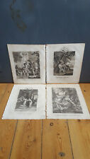The Life of Christ x4 Antique Engravings, 1811 - Baptism of Our Lord, Flight int