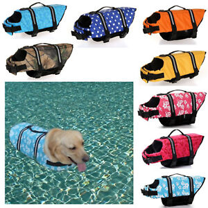 Pet Jackets Life Soft Preserver Summer Outdoor Swimming Dog Vest Safety Floating