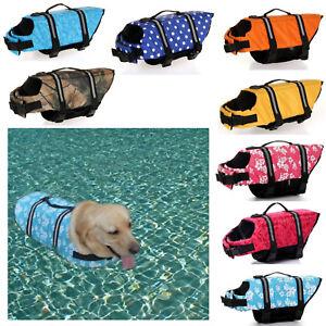 Pet Jackets Life Soft Preserver Summer Outdoor Swimming Dog Vest Safety Floating