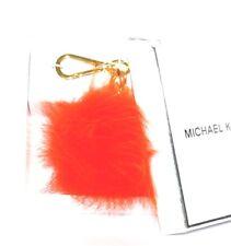 Michael Kors Schlüssel-Taschen-Anhänger Neu Fur Pom mimossa orange Pelz Charms