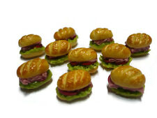 5 Loose Mini Sandwich Dollhouse Miniatures Bakery Food Supply Deco