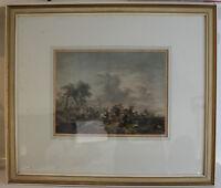 Pietro Antonio Martini Schlachtenszene kolorierter Kupferstich 1774 Kunst sf