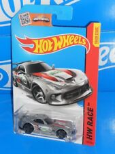 Hot Wheels New For 2015 World Race #150 SRT Viper GTS-R Mtflk Silver w/ PR5s