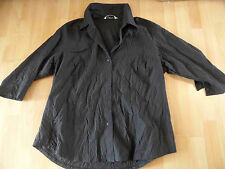CHAMPAGNE ligne schöne Bluse in Crashoptik schwarz EG w. NEU HMI416