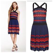 NWT SZ.4 $625 M MISSONI Zigzag Dress Knit Multicolor Chevron SZ.40