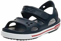 Crocs Kids' Crocband II Sandal | Water Slip on Shoes for, Navy/White, Size 3.0 2