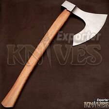 Knives Exporter Custom Damascus Steel Forest Bearded Axe S256 Ash Wood Handle