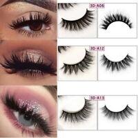 3Paire 100% Real 3D New Makeup Cross False Eyelashes Eye Lashes Popular Beauty