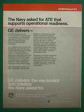 8/1986 PUB GENERAL ELECTRIC CASS 3 US NAVY ELECTRONICS AUTOMATED TESTING AD
