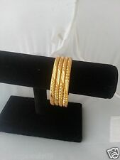 BOLLYWOOD INDIAN BRIDAL TRENDY COSTUME LARGE GOLD PLATED BRACELET BANGLE 2.10