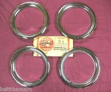 "VINTAGE 50's NOS 14"" NATIONAL BEAUTY TRIM RINGS RAT ROD HOT ROD LOW RIDER CUSTOM"