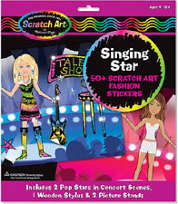 Scratch Art Scratchin' Fashion Sticker Scenes Singing Star Kit