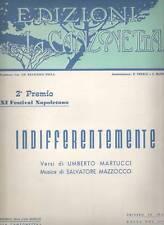 Spartito: Indifferentemente di Martucci - Mazzocco Spartito Per Canto e Pianofor