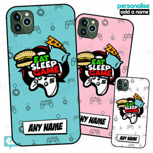 Personalised GAMER - Eat Sleep Game Case for iPhone Video Games Phone Cover Gift