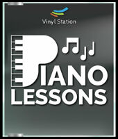 Piano Lessons Class Music Decal Sign Business Store Vinyl Window Decal.